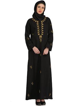 Ablah Black Cotton Abaya
