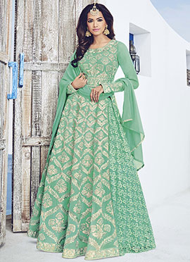 Ae Dil Hai Mushkil Light Teal Green Anarkali Suit