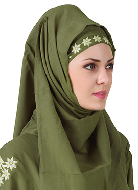Afsa Mehendi Green Rayon Hijab
