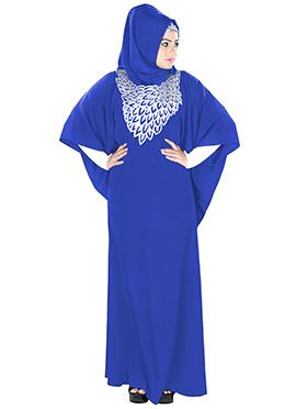 Aimen Royal Blue Crepe Fustan