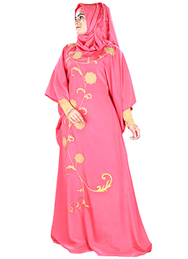 Aiza Pink Crepe Fustan