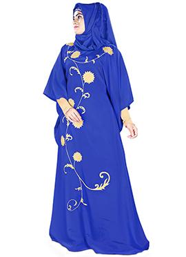 Aiza Royal Blue Crepe Fustan