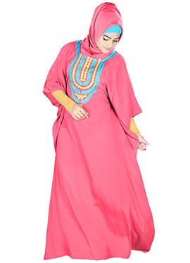 Aleena Pink Crepe Fustan