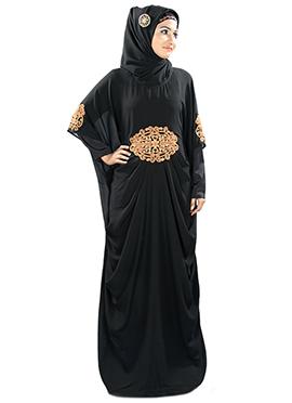 Amara Copper Embroidered Black Fustan