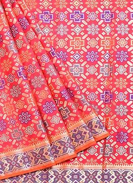 Amaranth Red Benarasi Art Silk Saree