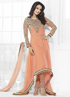 Ameesha Patel Asymmetrical Anarkali Suit