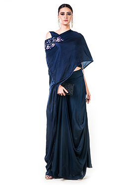 2e375512a387 Skirt Set Blue Women Indowestern Sets and Suits