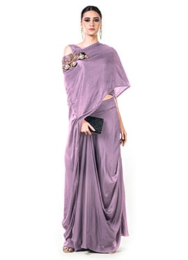Anushree Agarwal Mauve Skirt Set