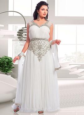 Appealing White Net Gown