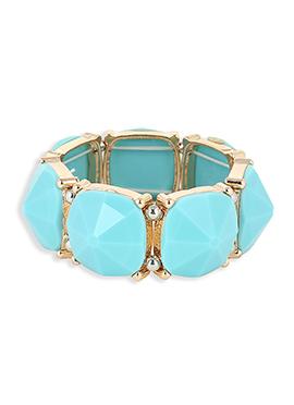 Aqua Blue Crystals Studded Bracelet