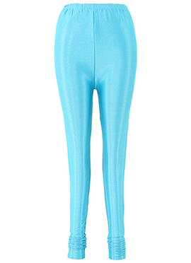 Aqua Blue Lycra Leggings