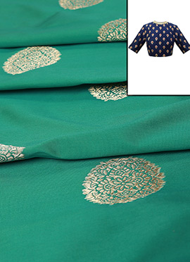 Aqua Green Art Silk Blouse