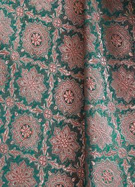 Aqua Green Art Silk Brocade Blouse