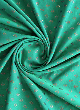 Electric Green Brocade Fabric