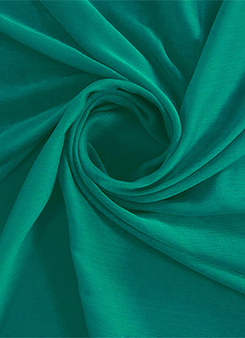 Aqua Green Chiffon Fabric
