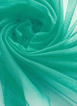 Aqua Green Pink Net Fabric