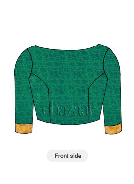 Aqua Green Traditional Blouse