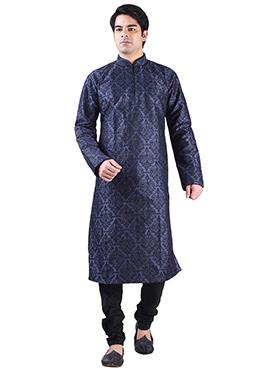 Art Dupion Silk Foliage Design Kurta Pyjama
