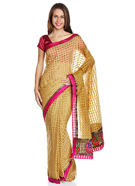 Art Kota Silk Check Patterned Saree