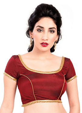 Art Silk Maroon Blouse
