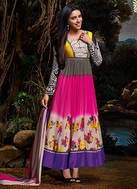 Asin Multicolored Anarkali Suit