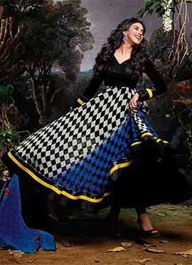 Asin Printed Georgette Anarkali Suit