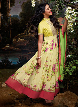 Asin Yellow Anarkali Suit