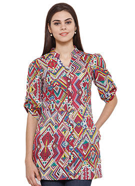 Ayaany Multicolored Blended Cotton Top
