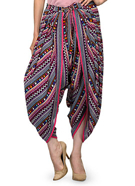 Ayaany Multicolored Dhoti Pant