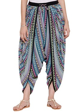Ayaany Multicolored Georgette Dhoti Pant