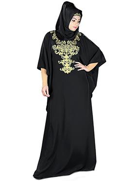 Ayana Black Crepe Fustan