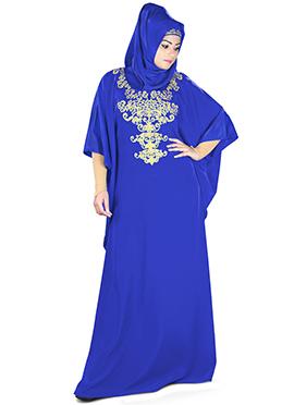 Ayana Royal Blue Crepe Fustan