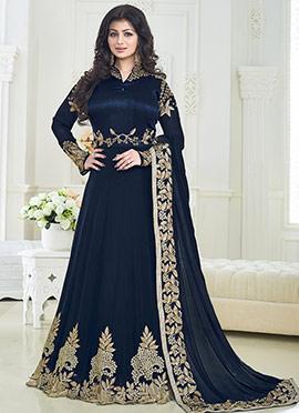 Ayesha Takia Blue Abaya Style Anarkali Suit