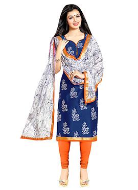 Ayesha Takia Blue Cotton Churidar Suit