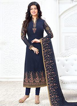 Ayesha Takia Blue Georgette Straight Suit
