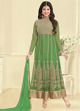 Ayesha Takia Green Anarkali Suit