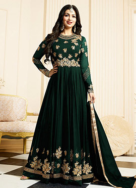 Ayesha Takia Green Georgette Anarkali Suit