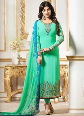 Ayesha Takia Light Green Georgette Straight Suit