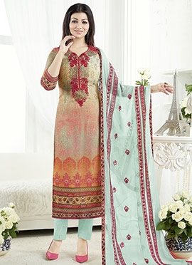 Ayesha Takia Multicolor Straigt Pant Suit