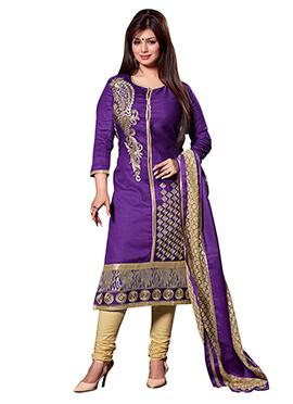 Ayesha Takia Purple Churidar Suit