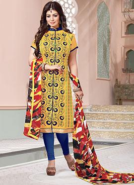 Ayesha Takia Yellow Churidar Suit