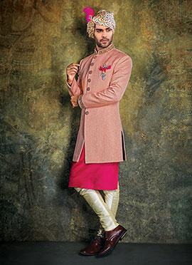 Baby Pink Achkan Sherwani