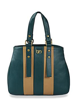 Bagsy Malone Beige N Persian Green Hand Bag