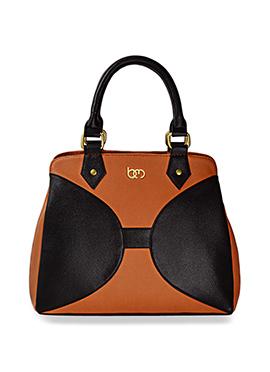 Bagsy Malone Black N Orange Hand Bag
