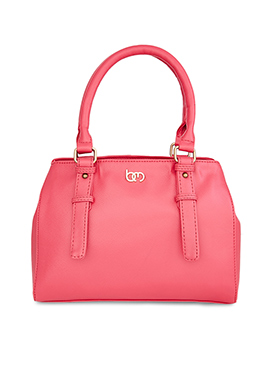 Bagsy Malone Coral Pink Leather Hand Bag