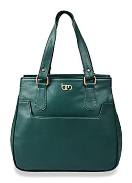 Bagsy Malone Dark Green Leather Hand Bag