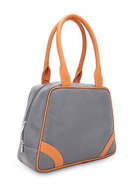 Bagsy Malone Grey Leather Hand Bag