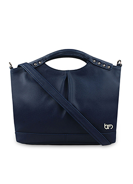 Bagsy Malone Navy Blue Leather Tote Bag