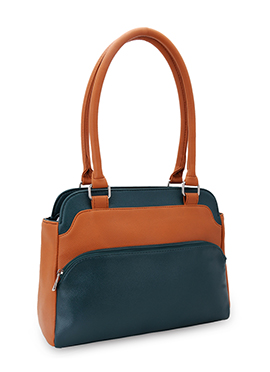 Bagsy Malone Orange N Bondi Blue Hand Bag