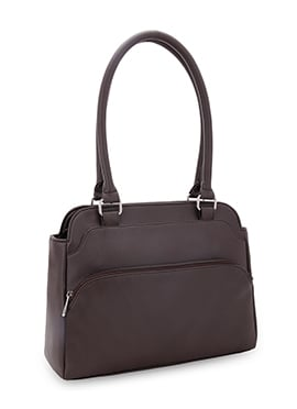 Bagsy Malone Taupe Grey Leather Hand Bag
